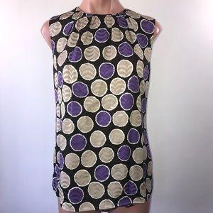 Tory Burch Silk Sleeveless Blouse size 6